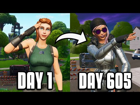 605 Day Fortnite Progression From Console To PC! (Keyboard And Mouse)