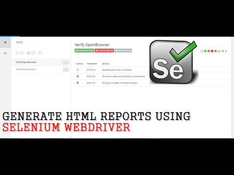 Selenium Tutorials | How to generate HTML reports using Selenium WebDriver