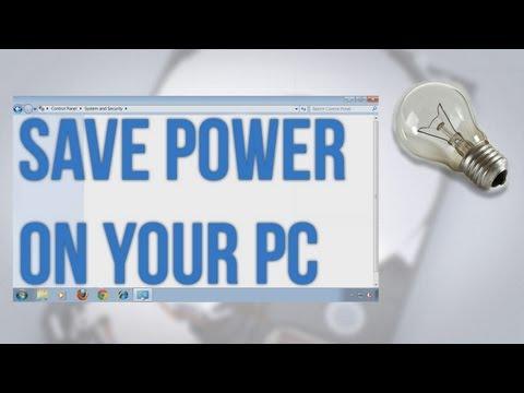 How to save power on your PC