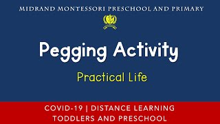 Montessori Practical Life Presentation - Pegging