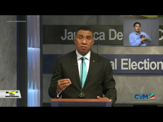 Jamaica Leadership Debates Andrew Holness vs Dr Peter Phillips | Election 2020: August 29 2020|CVMTV