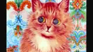 Луис Уэйн. Рисунки котов до и во время шизофрении.