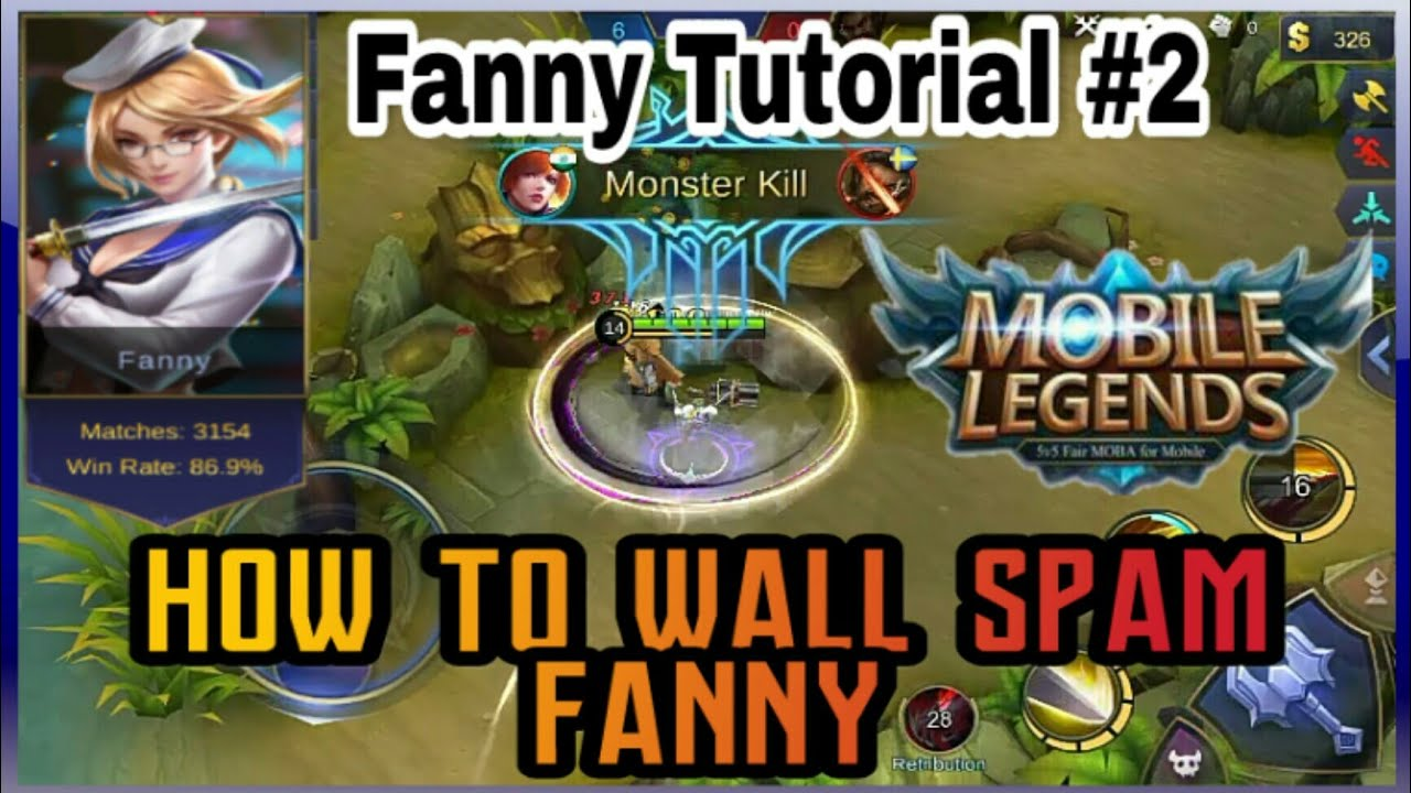 fanny tutorial #2 | how to wall spam with fanny | mobile legends : bang bang