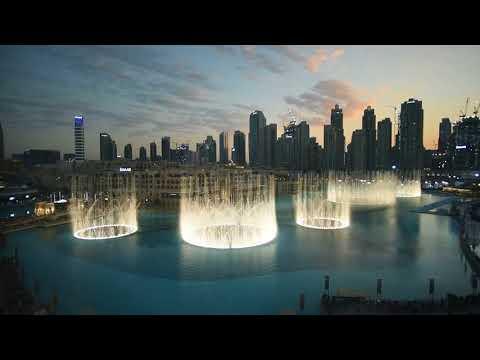 180116 -EXO Power in Dubai Fountain Show (OFFICIAL) - 엑소