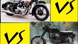 ROYAL ENFIELD Vs JAWA YEZDI Engine Sound ★ 1960's Motorcycle Video HD