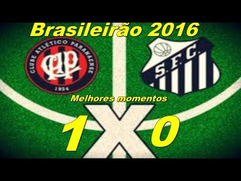 Atlético PR 1 x 0 Santos Melhores Momentos   Brasileirão 2016