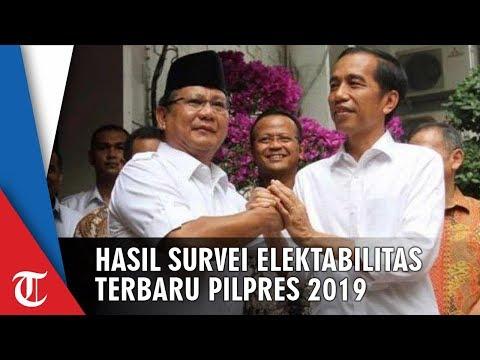 H-5 Pilpres 2019, Berikut Hasil Survei Terbaru Elektablitas Jokowi-Ma'ruf Vs Prabowo-Sandiaga