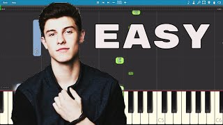 How to play There's Nothing Holding Me Back EASY Piano Tutorial - Shawn Mendes