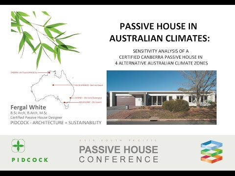 Passive House Standard in Australian Climates