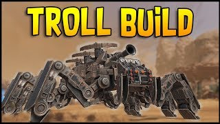 Crossout - MASSIVE SPIDER TRIPLE CROSSBOW TROLL BUILD! - Crossout Gameplay