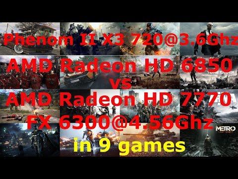AMD Radeon HD 7770 vs HD 6850_Phenom II X3 720@3.6 vs FX6300@4.56 Low-Max settings 1080p in 9 games