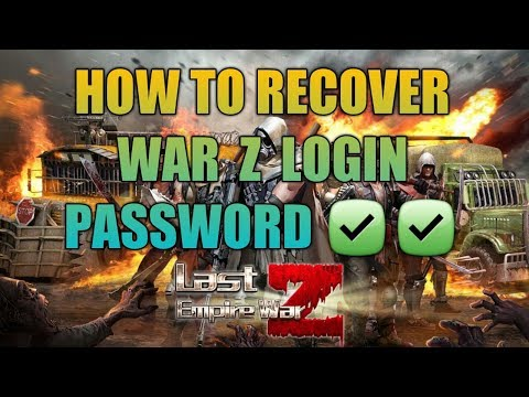 How To Recover War Z Login Password