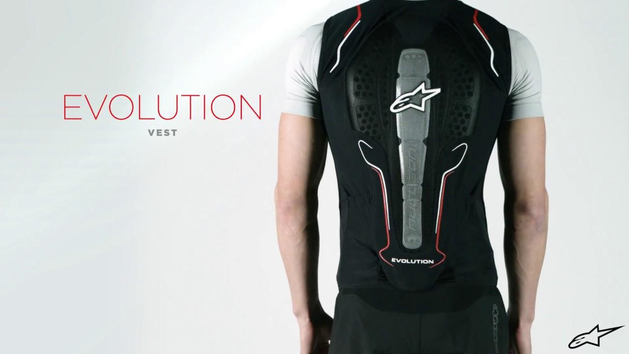 Vest Chaqueta Red Black De Alpinestars White Evolution Proteccion 6y7mbfvIYg