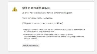 SOLUCIÓN Código de error: sec_error_revoked_certificate