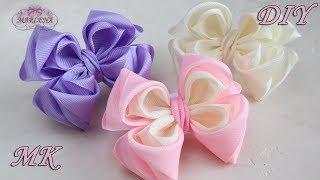 🎀 Красивые бантики 🎀 из репсовых лент. Ribbon Bows DIY