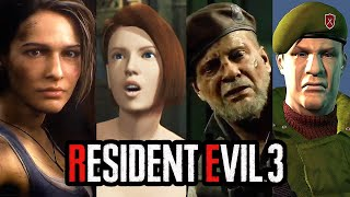 Resident Evil 3 Remake - Personajes Antes vs Ahora - Comparativa