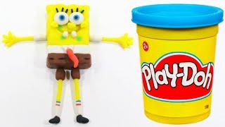 Spongebob Squarepants Peppa Pig español Paw Patrol Play Doh STOP MOTION Toys Videos [4K]