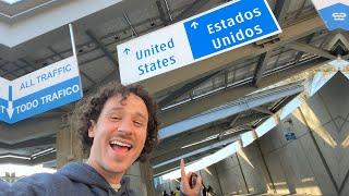 ¿Cómo es cruzar CAMINANDO la frontera de Estados Unidos? 🇺🇸🚶🏽🇲🇽