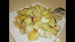 Курица с картошкой. Фирменный рецептик