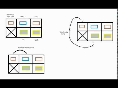 opel/vauxhall passenger window switch wire diagram