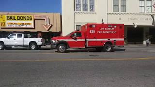 LAFD Rescue 839 Responding