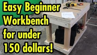 Easy Beginner Workbench For 150 Dollars - Free Sketchup Plan In Description