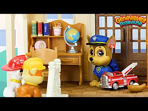 Paw Patrol get a New House Toy Learning Video for Kids!