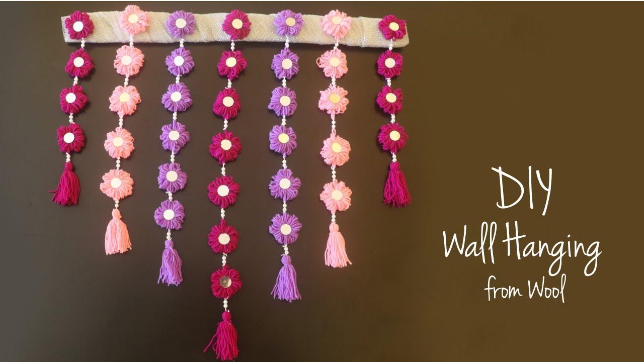 Diy Wall Decoration Wall Hanging Toran From Wool