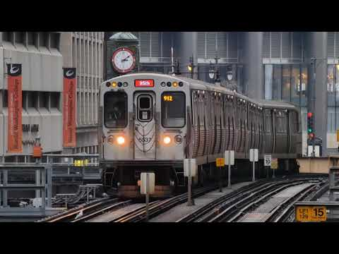 "CTA 'L' - Red Line Trains Going ""Over the Top"" - 1/24/2021"