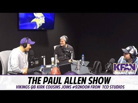 Vikings QB Kirk Cousins joins KFAN's Paul Allen at the new TCO Radio Studio