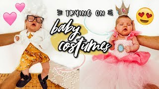TRYING ON CUTIE BABY HALLOWEEN COSTUMES! | Aspyn Ovard