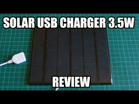 Solar Iphone / Cell phone USB Charger 3.5W REVIEW