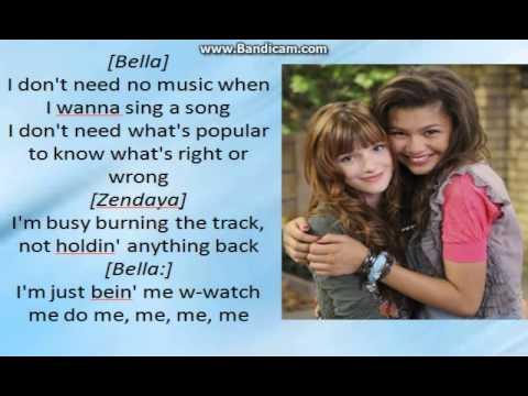 Bella Thorne And Zendaya - Watch Me - Lyrics