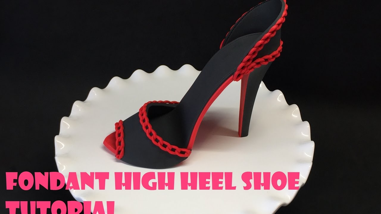 New! High heel shoe kit silicone fondant cake template mold mould.