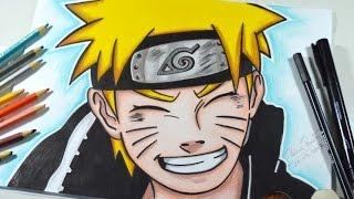Como desenhar o NARUTO UZUMAKI passo a passo - How to draw Naruto