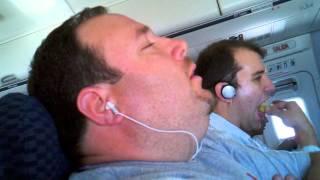 Snoring dude on plane