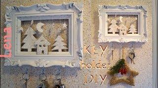 Schlüsselboard Basteln Aus Bilderrahmen   Key Holder Diy   вешалка для ключей