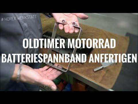 Motorrad Batteriespannband selber anfertigen | Oldtimerteile Nachbau | Blech Biegen & Biegemaschine
