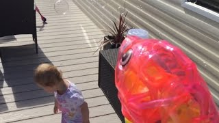 Elsie-Rose Chasing Bubbles Hafan-y-mor Haven Caravan Decking
