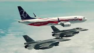 F-16 escort Boeing 737 MAX 8