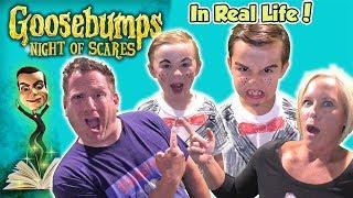 Goosebumps Night of Scares in Real Life! Does Slappy Get Us? | DavidsTV