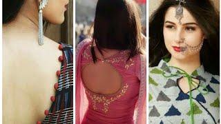 New Simply Back Blouse Neckline Designer Beauty fashion