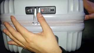 Repeat youtube video How to set or change Lojel TSA combination lock