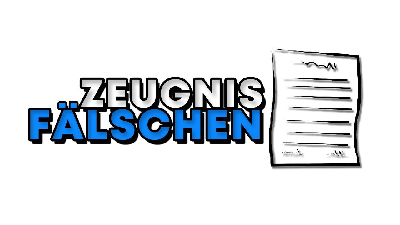 Zeugnis Fälschen Tutorial - Einfach und Schnell Deutsch!! - YouTube