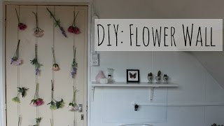 Do it yourself: Flower wall (Bloemen deur of muur DIY) | Boncolor