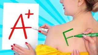 CHI DISEGNA MEGLIO VINCE || Sfida Di Disegno! I Disegni Più Buffi E Simpatici su 123 GO! SCHOOL