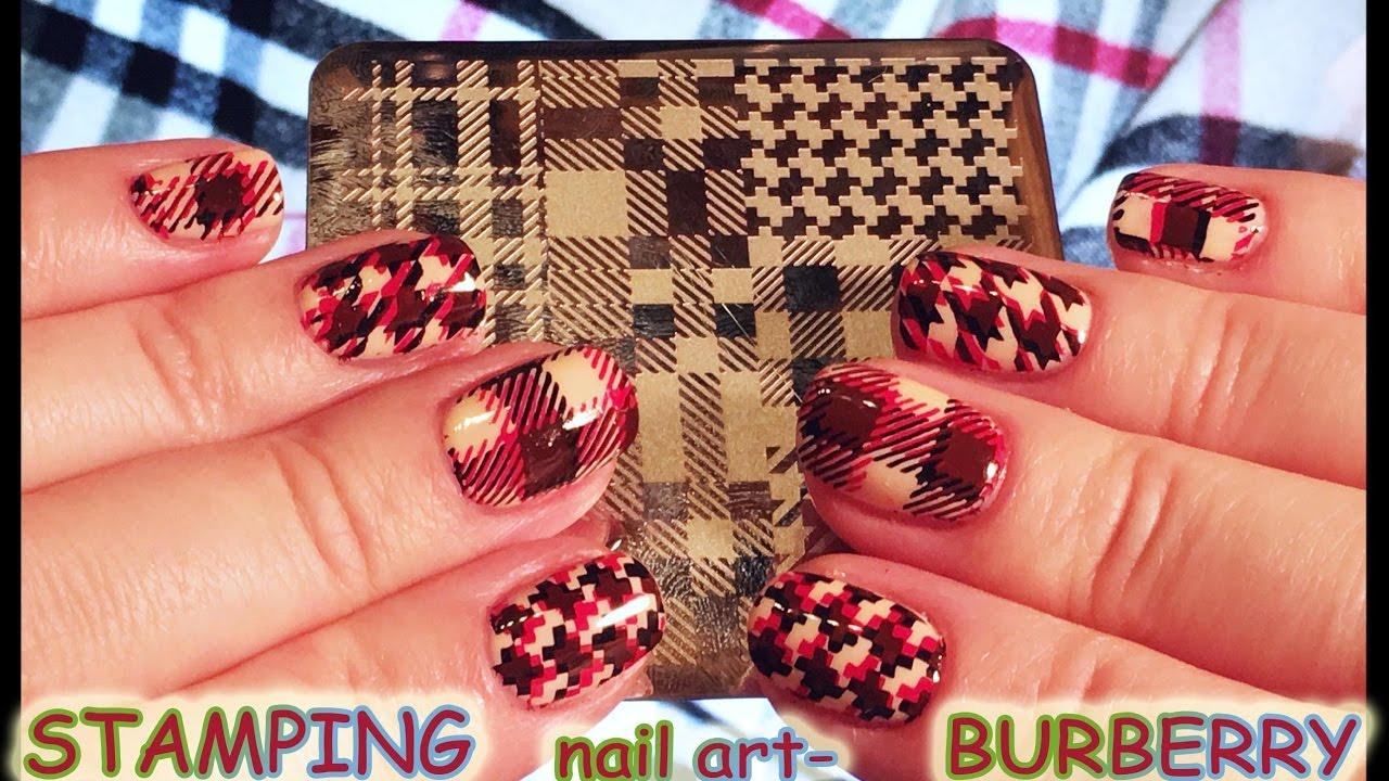 Стемпинг <b>NICOLE DIARY</b> в стиле BURBERRY!Stamping <b>nail art</b> ...