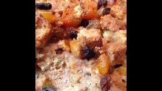 Vegan Christmas Dinner: Bread Pudding With Amaretto Sauce