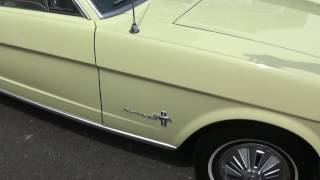 Trojan Cars Classic Ford Mustang V8 1966 fastback in springtime yellow