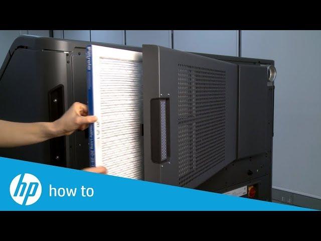 Jak wymienić filtr wlotu powietrza w drukarkach 3D HP Jet Fusion 300/500